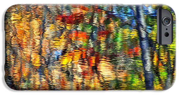 Willow Lake iPhone Cases - An Autumnal Rainbow iPhone Case by Frozen in Time Fine Art Photography