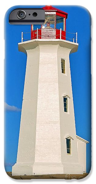 Lighthouse iPhone Cases - An Eastern Canadian Landmark 3 iPhone Case by Jack Ross