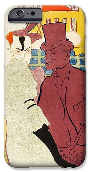 Toulouse-lautrec Drawings iPhone Cases - An Englishman at the Moulin Rouge iPhone Case by Henri de Toulouse-Lautrec