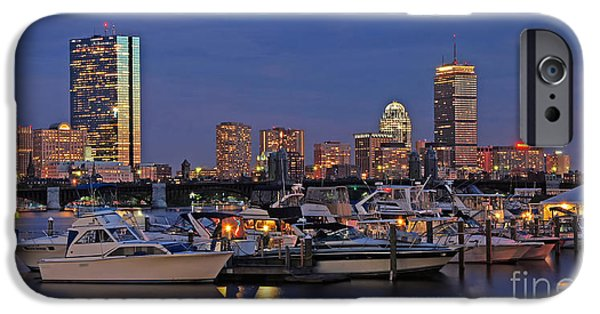 City. Boston iPhone Cases - An Evening on the Charles iPhone Case by Joann Vitali