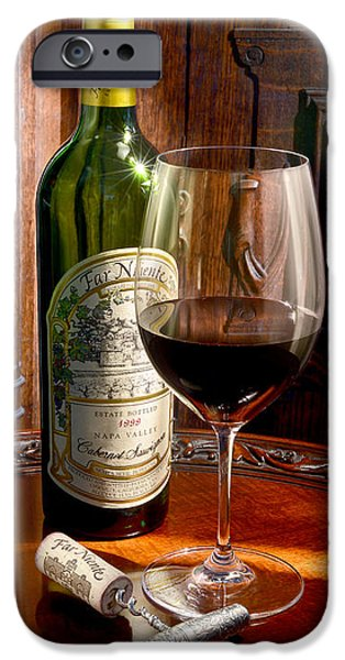 Wine Cellar Photographs iPhone Cases - An Evening with Far Niente iPhone Case by Jon Neidert