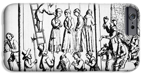Punishment iPhone Cases - An Execution of Witches in England iPhone Case by English School