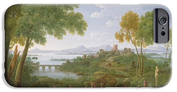 Classical iPhone Cases - An Extensive Italianate Landscape With A Sacrifice, 1728 Oil On Canvas iPhone Case by Hendrik van Lint