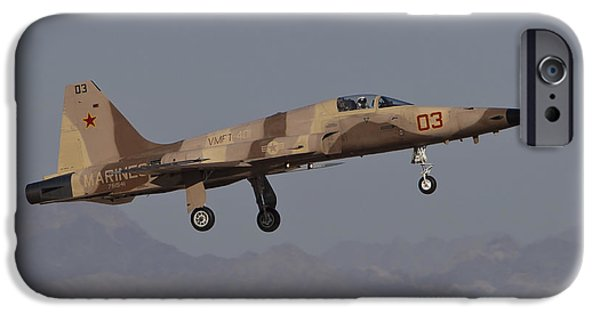 Freedom iPhone Cases - An F-5n Aggressor Aircraft Of The U.s iPhone Case by Timm Ziegenthaler