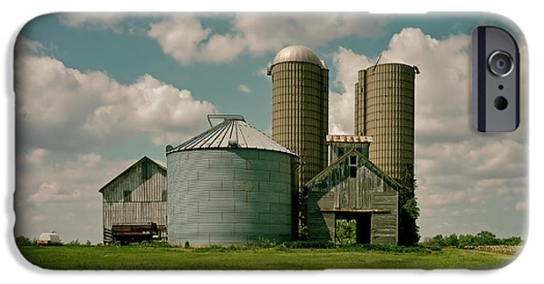 Illinois Barns iPhone Cases - An Illinois Farm iPhone Case by Mountain Dreams