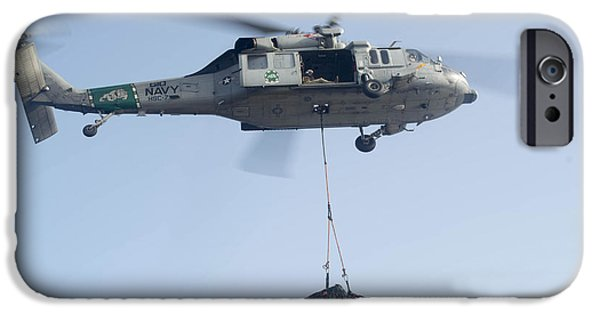 At Arrivals iPhone Cases - An Mh-60s Knighthawk Delivers Cargo iPhone Case by Stocktrek Images