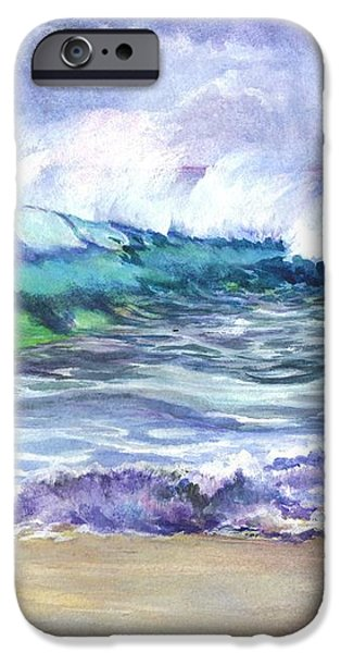 AN ODE TO THE SEA iPhone Case by Carol Wisniewski