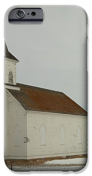AN OLD CHURCH IN NORTH DAKOTA iPhone Case by Jeff  Swan