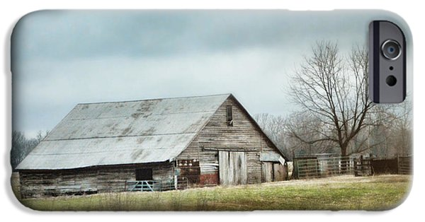 Tennessee Barn iPhone Cases - An Old Gray Barn iPhone Case by Jai Johnson