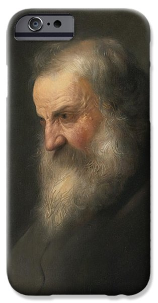 Lieven iPhone Cases - An Old Man iPhone Case by Jan Lievens