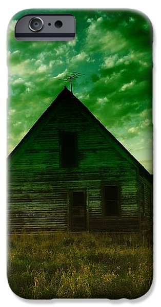 AN OLD NORTH DAKOTA FARM HOUSE iPhone Case by Jeff  Swan