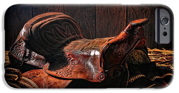 Saddle iPhone Cases - An Old Saddle iPhone Case by Olivier Le Queinec