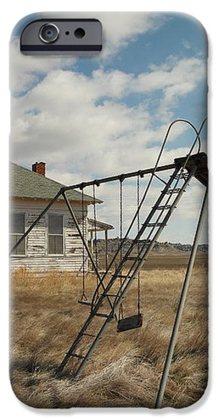 AN OLD SCHOOL NEAR MILES CITY MONTANA iPhone Case by Jeff  Swan