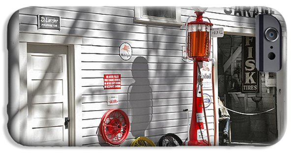 Mechanics Photographs iPhone Cases - An old village gas station iPhone Case by Mal Bray