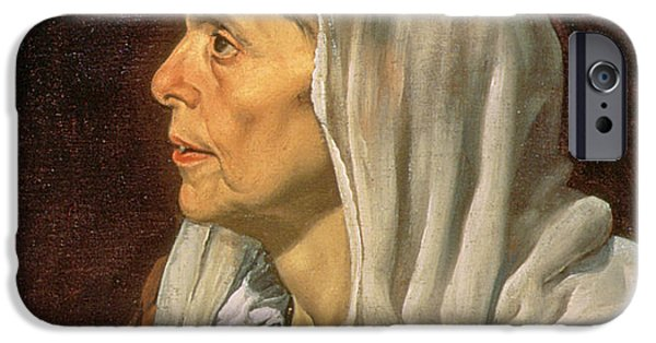 Veiled iPhone Cases - An Old Woman Cooking Eggs, 1618 Oil On Canvas Detail Of 68751 iPhone Case by Diego Rodriguez de Silva y Velazquez