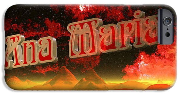 Nombre iPhone Cases - Ana Maria iPhone Case by  Gef Getifra
