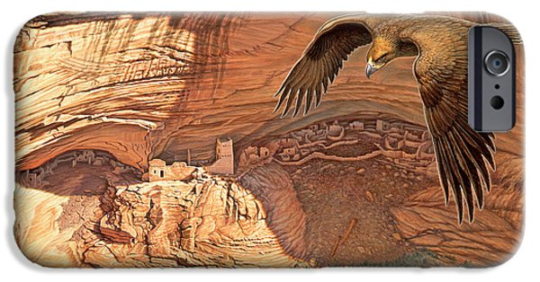 National Park Paintings iPhone Cases - Anasazi - Ancient Ones iPhone Case by Paul Krapf