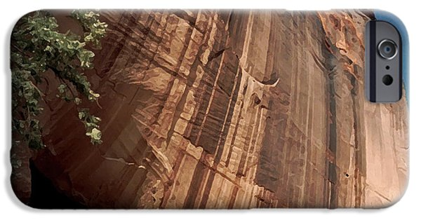 Overhang iPhone Cases - White House Ruin in Canyon de Chelly iPhone Case by Connie Fox