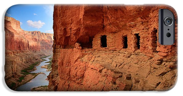 Grand Canyon iPhone Cases - Anasazi Granaries iPhone Case by Inge Johnsson