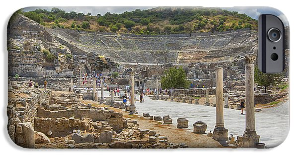 Ephesus iPhone Cases - Ancient Broadway iPhone Case by Stephen Stookey