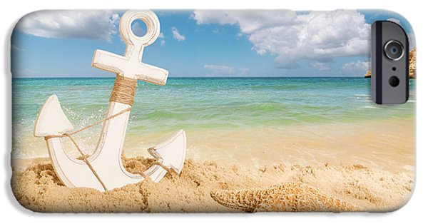 Concept iPhone Cases - Anchor On The Beach iPhone Case by Amanda And Christopher Elwell