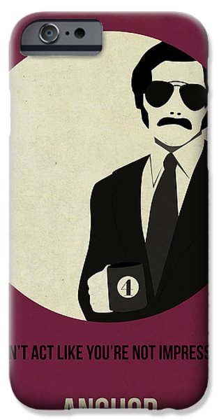 Film iPhone Cases - Anchorman Poster iPhone Case by Naxart Studio
