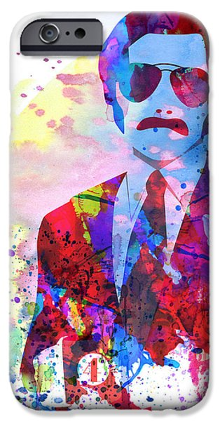 Film iPhone Cases - Anchorman Watercolor 2 iPhone Case by Naxart Studio