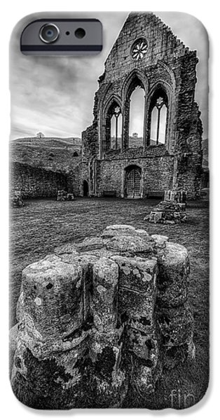 13th Century iPhone Cases - Ancient Abbey iPhone Case by Adrian Evans