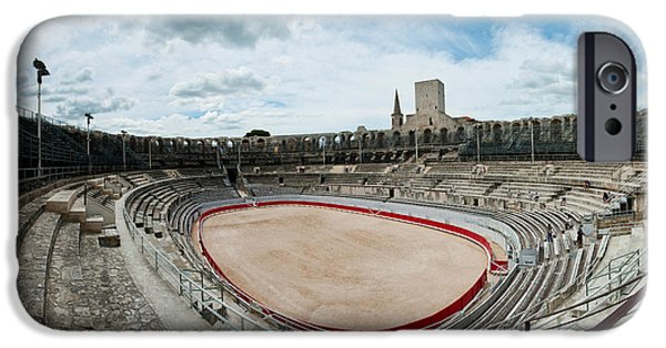 Arles iPhone Cases - Ancient Amphitheater In A City, Arles iPhone Case by Panoramic Images