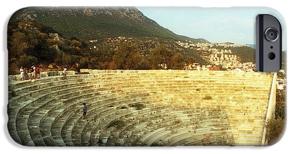 Antiques iPhone Cases - Ancient Antique Theater At Sunset iPhone Case by Panoramic Images