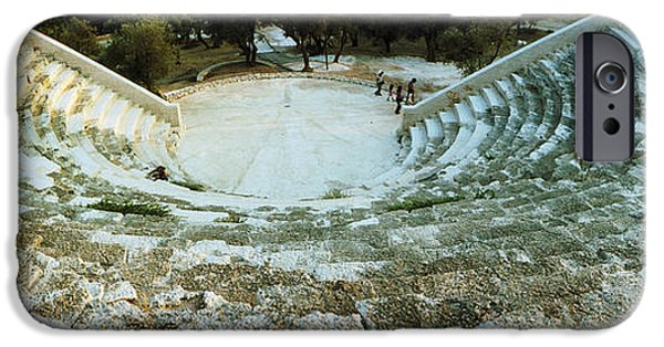 Antiques iPhone Cases - Ancient Antique Theater In Kas, Antalya iPhone Case by Panoramic Images
