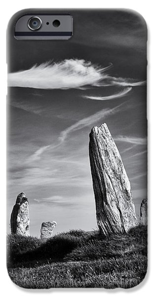 Monolith iPhone Cases - Ancient Callanish  iPhone Case by Tim Gainey