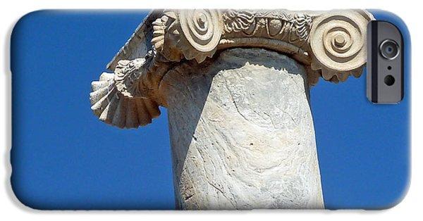 Delos iPhone Cases - Ancient Delos Greece iPhone Case by Cheryl Del Toro