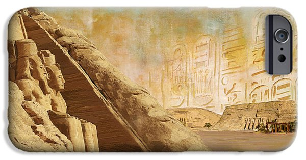 Thebes iPhone Cases - Ancient Egypt Civilization 05 iPhone Case by Catf