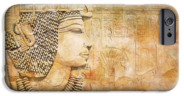 Thebes iPhone Cases - Ancient Egypt Civilization 07 iPhone Case by Catf