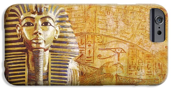 Thebes iPhone Cases - Ancient Egypt Civilization Detail 02 iPhone Case by Catf
