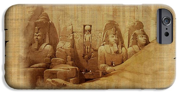 Thebes iPhone Cases - Ancient Egypt Civilization Detail 03 iPhone Case by Catf