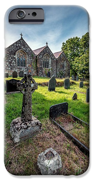 Cemetary iPhone Cases - Ancient Graveyard   iPhone Case by Adrian Evans