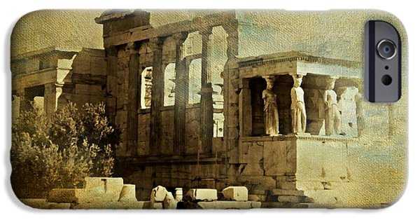 Athens Ruins iPhone Cases - Ancient Greece iPhone Case by Diana Angstadt