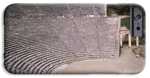 Open Air Theater iPhone Cases - Ancient Greece iPhone Case by Robert Edgar