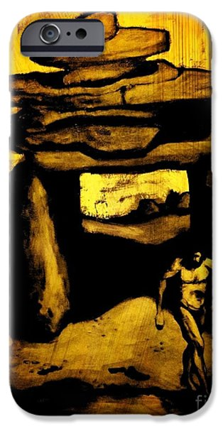 Halifax Art Work iPhone Cases - Ancient Grunge iPhone Case by John Malone