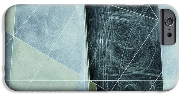 Modern Abstract iPhone Cases - Ancient Landscape, 1982 Oil On Hardboard iPhone Case by George Dannatt