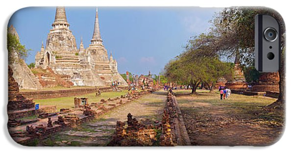 Buddhism iPhone Cases - Ancient Ruins Of A Temple, Wat Phra Si iPhone Case by Panoramic Images