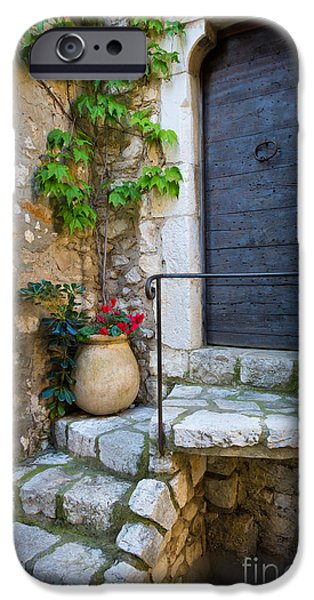 Provence Photographs iPhone Cases - Ancient Stairs iPhone Case by Inge Johnsson