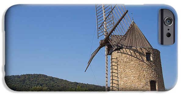 Grimaud iPhone Cases - Ancient stone windmill iPhone Case by Jaroslav Frank