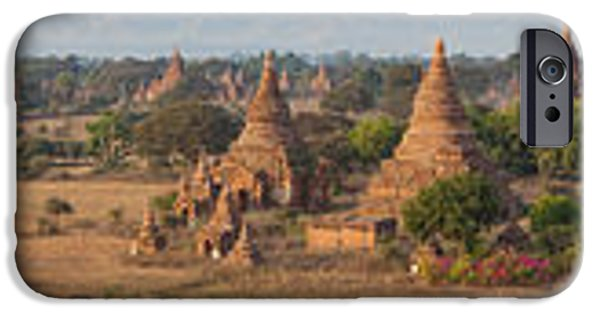 Buddhism iPhone Cases - Ancient Temples In Bagan, Mandalay iPhone Case by Panoramic Images