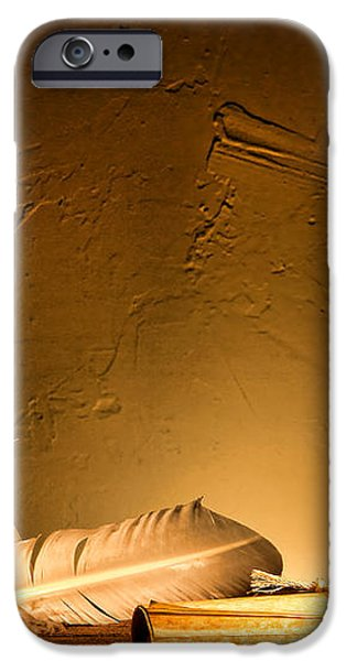 Ancient Texting iPhone Case by Olivier Le Queinec