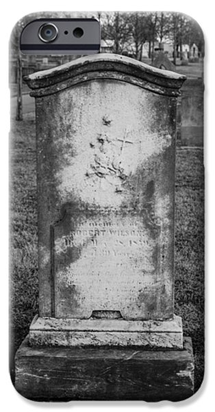 Final Resting Place iPhone Cases - Ancient Tombstone iPhone Case by Robert Hebert