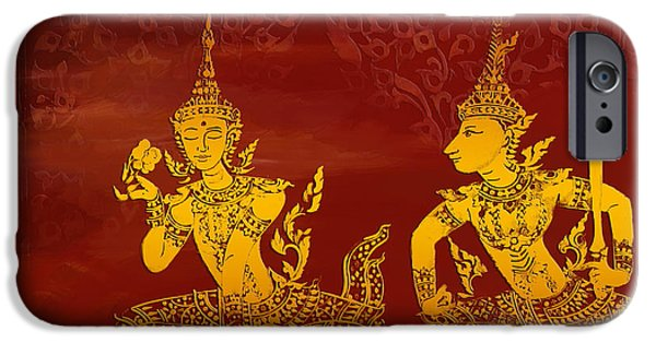 Buddhism Paintings iPhone Cases - Ancient Traditions  iPhone Case by Corporate Art Task Force