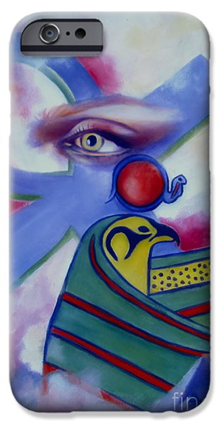 Horus iPhone Cases - Ancients Calling iPhone Case by Rebecca Glaze